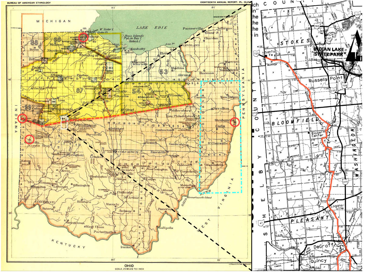 Map Of Ohio And Pennsylvania http://www.spokesrider.com/2008/01/21/greenville-treaty-line/