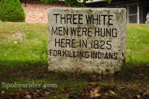 Hung here for killing Indians