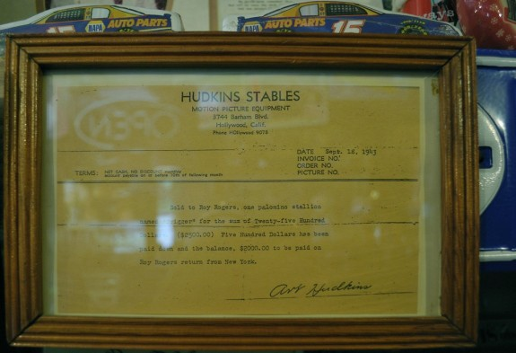 Bill of sale for Roy Rogers' horse, Trigger