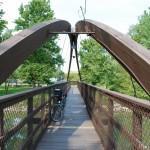 Pedestrian bridge over the River Raisin in Blissfield MI