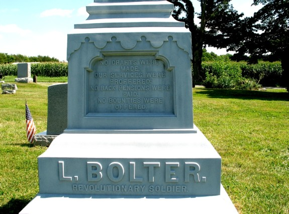L. Bolter monument inscription