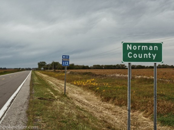 Entering Norman County, Minnesota
