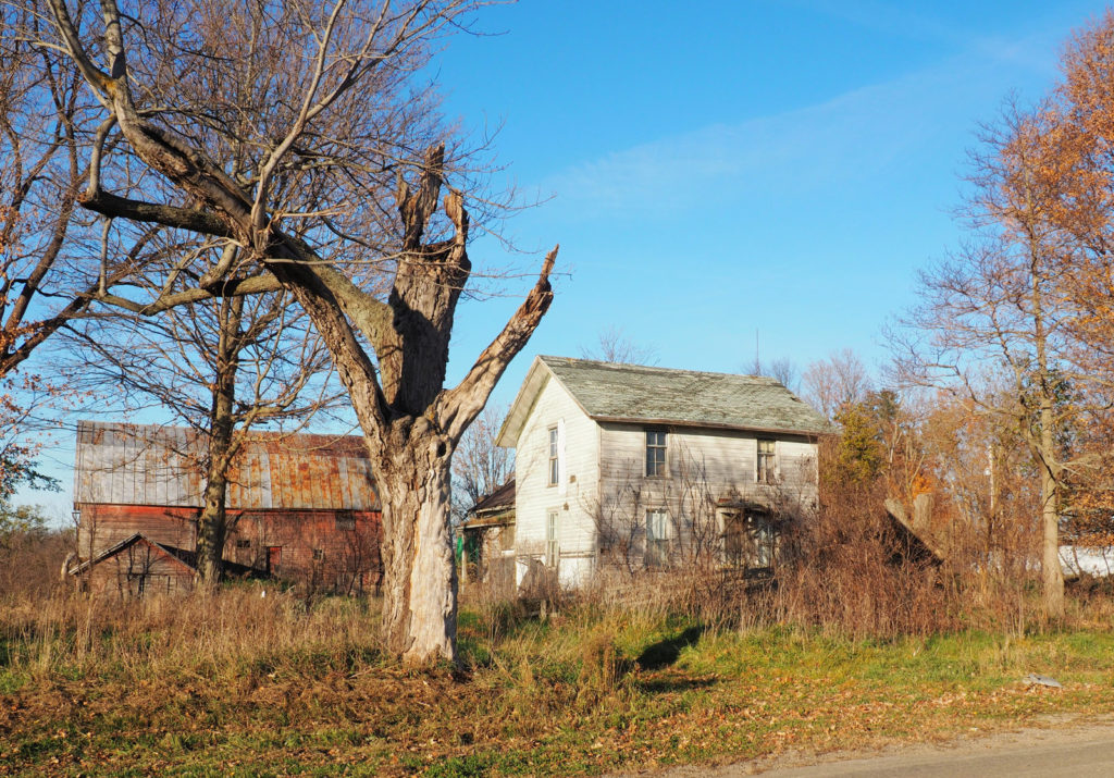 Farmstead across the road from the Butler Township Hall