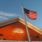 Flag at Bunker Hill Township Hall