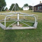 Playground in the rear of the Carlton Township Hall, Barry County, Michigan (22 Aug 2015)