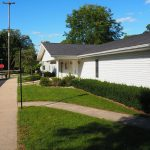 The street in front of Boston Township Hall in Ionia County, Michigan (12 Sep 2016)