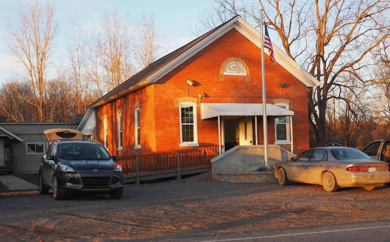 Bunker Hill Township Hall, Ingham County, Michigan. 12 November 2016. A baby shower was in progress.