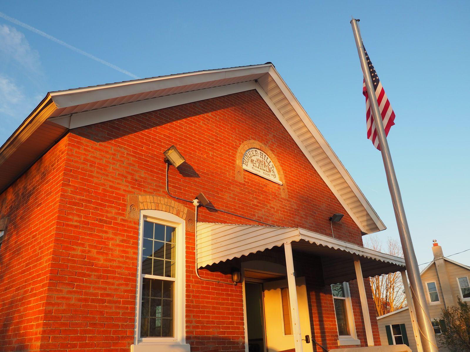 Main entrance, Bunker Hill Township Hall