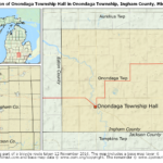 Location of Onondaga Township Hall in Onondaga Township, Ingham County, Michigan
