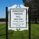 Schoolcraft Township Hall (12 May 2017) - How Swan Park got its name, probably.